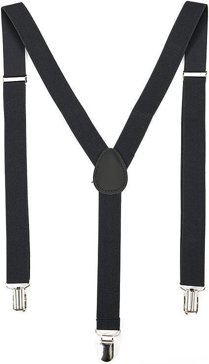 Men Women Y Shape Suspenders 4 Clips Jeans Shorts Trousers Straps Elastic Braces