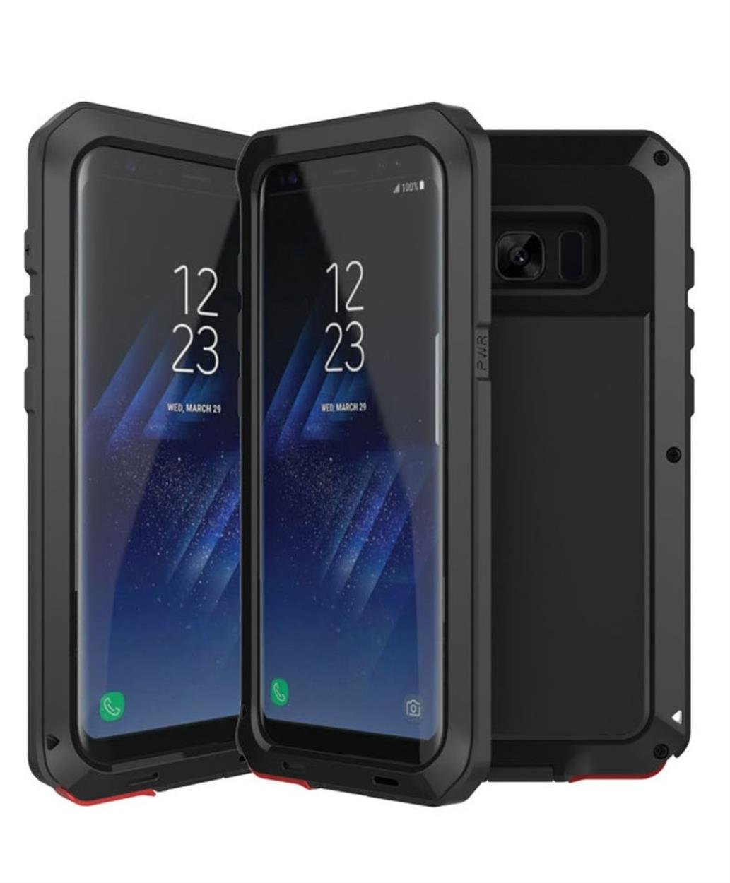 new style 049af 6336b Galaxy Note 5 Water Resistant Metal Case, CHEETOP Heavy Duty Full Body  Military Protective Shockproof Iron Armor Bumper Cover with Gorilla Glass  ...