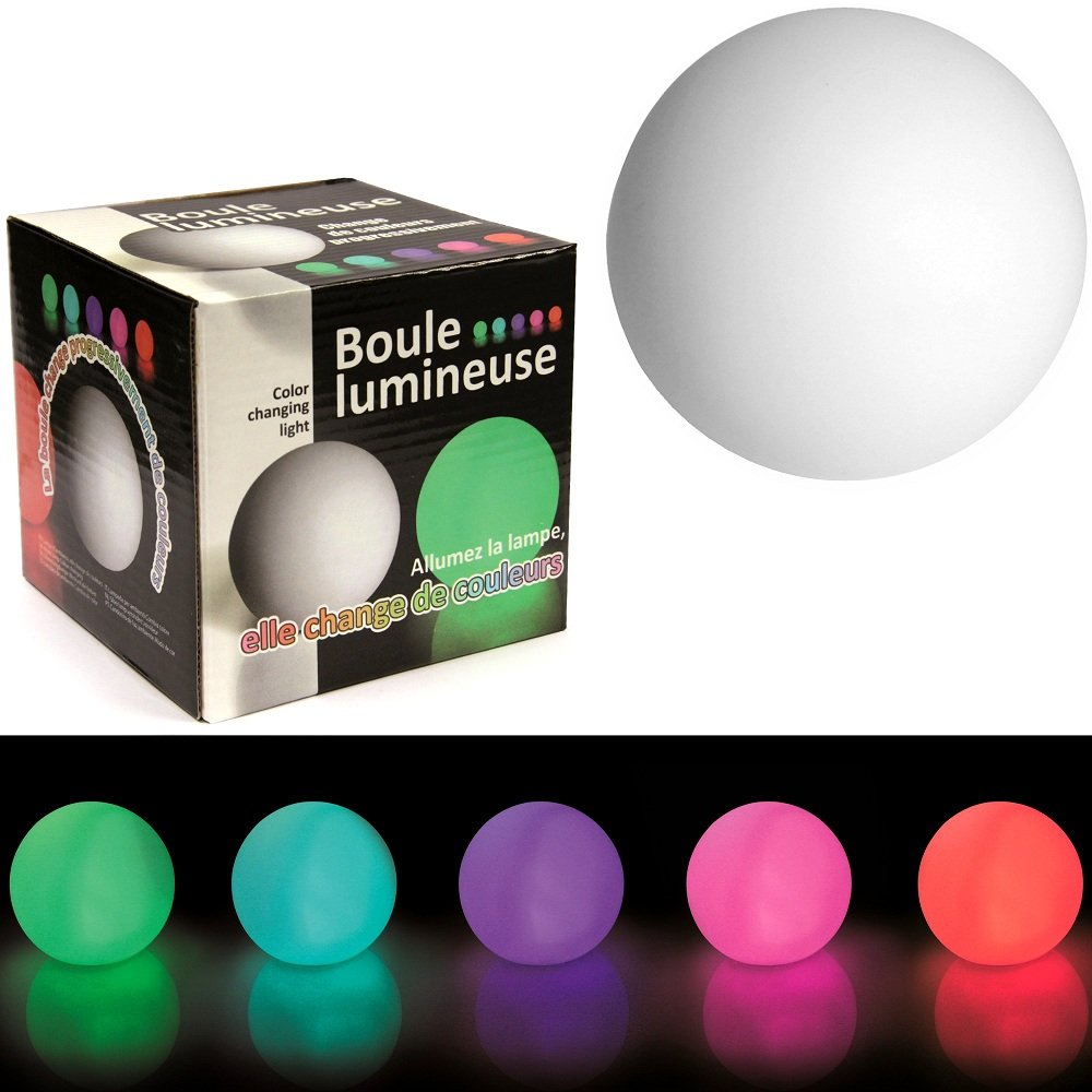 boule lumineuse 60 cm interesting globo wireless lampe ronde sans fil poser avec led. Black Bedroom Furniture Sets. Home Design Ideas