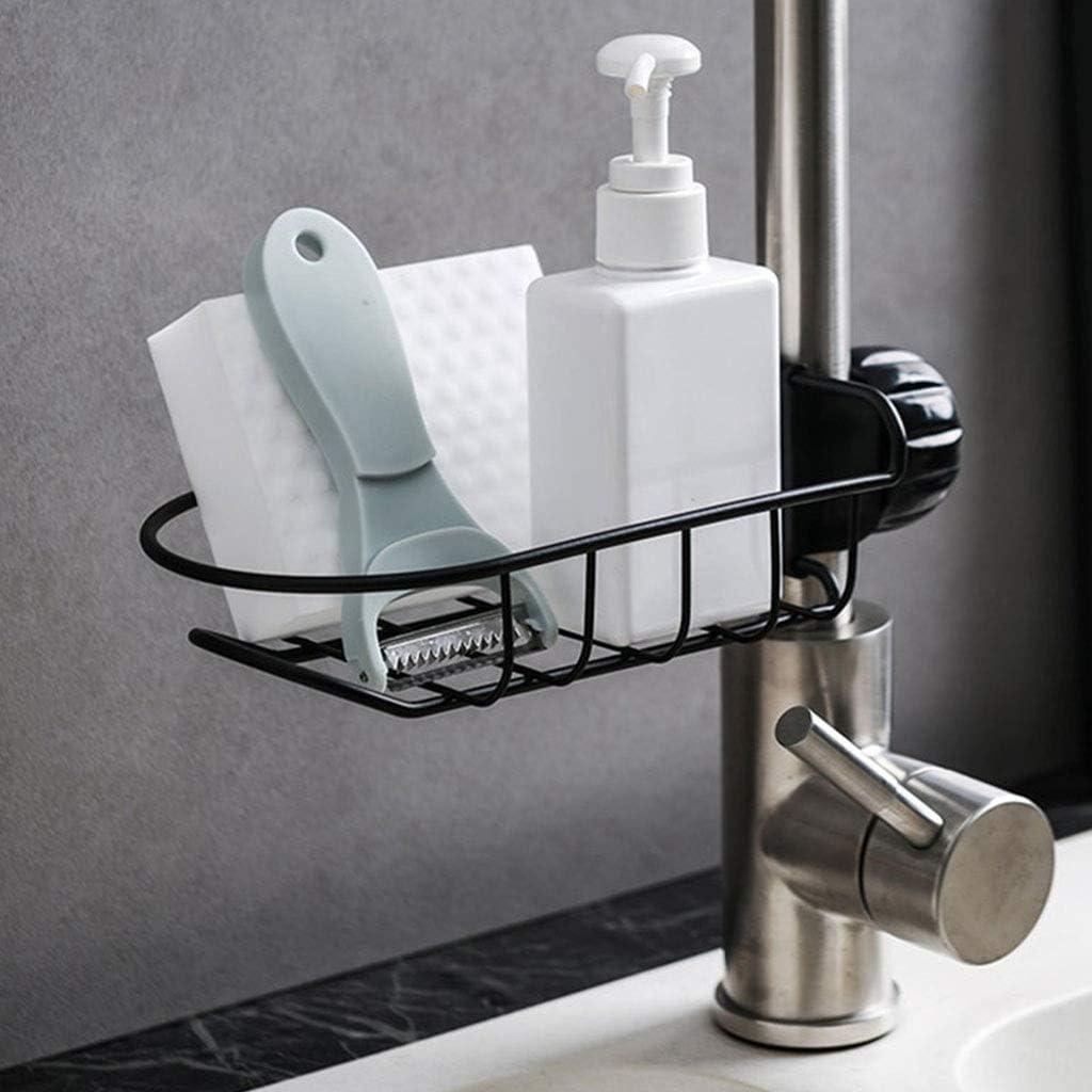Color : Gold Yuansr Faucet Iron Shelf Kitchen Bathroom Sink Faucet Rack Drain Rack with Hook Storage Drain Kitchen Kitchen Faucet Water Storage Rack