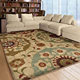 Carolina Weavers Grand Comfort Collection Solar Patches Gray Shag Area Rug (7'10 x 9'10)