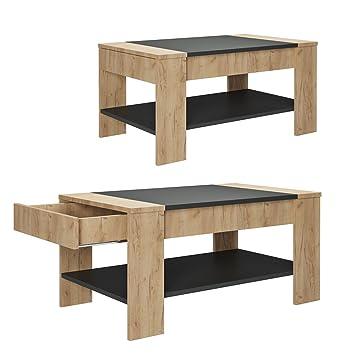 Vicco Couchtisch Mit Schublade 100 X 60 Cm Beistelltisch Holztisch