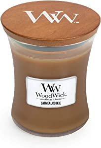 WoodWick Oatmeal Cookie Pluswick Medium Hourglass Candle, 10 oz.