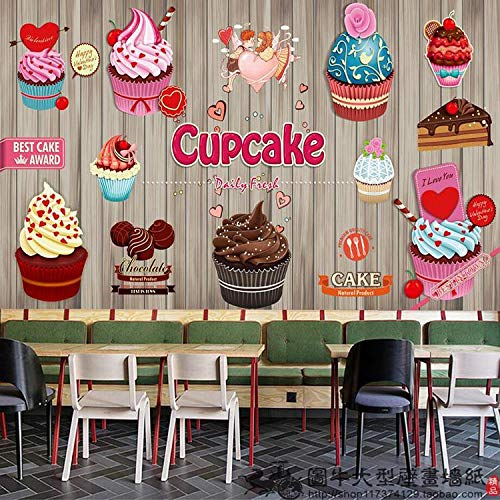 Mural Papel Pintado Papel Tapiz Dulce De Leche Fluida Tea Shop Pastel Pan Wallpaper Wallpaper Cartoon Helado Frutas Cafe Grandes Murales: Amazon.es: ...