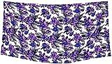 LA LEELA Soft Light Scarf Dress Bikini Wrap Sarong Printed 78''X39'' Violet_3418