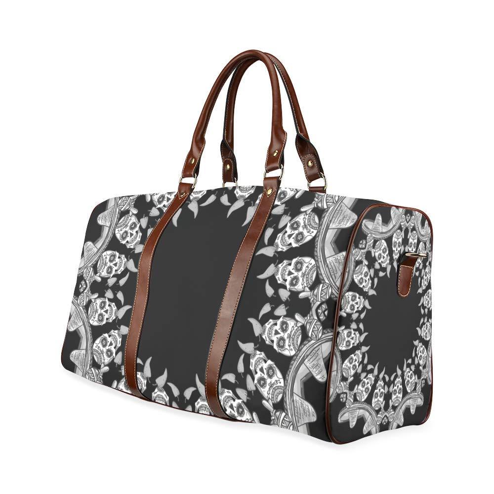 Travel Bag Skull Duffel Overnight Bag Waterproof Travel Bag Womens Weekender