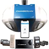 Chamberlain Group Chamberlain B980 Smartphone-Controlled Ultra-Quiet and Strong Belt Drive Garage Door Opener Ultimate Securi