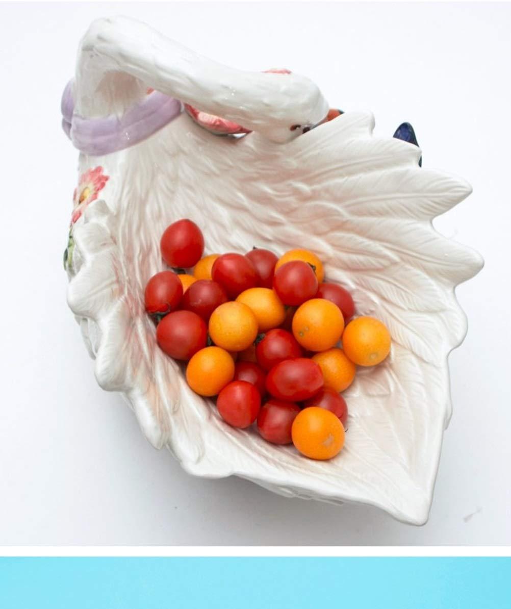 ZCYX Fruit Basket Swan Fruit Plate European Ceramic Large Tray Large Fruit Bowl Fruit Dish Fruit Traycomport 80 Fruit basket