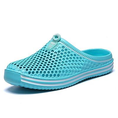 ILINXUAN Womans Mens Bathroom Garden Non-Slip Hole Breathable Lightweight Sandals Unisex Beach Quick Drying Sandals Couple Indoor/Outdoor Slippers | Sandals