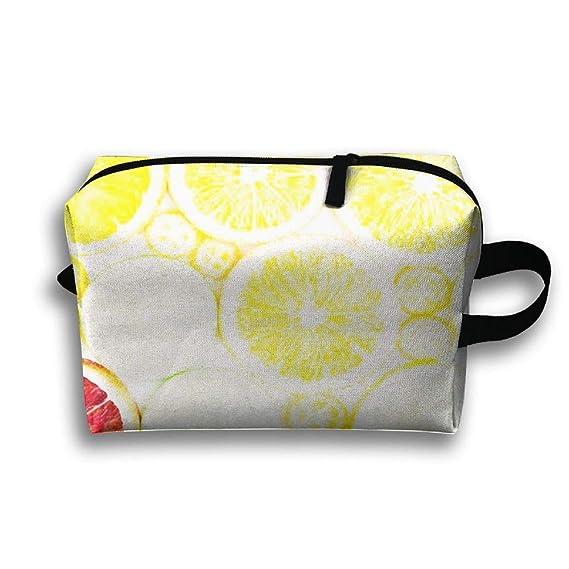 Amazon.com  Travel Cosmetic Bag Portable Handbag Delicious Orange ... 2f96f0d609a13