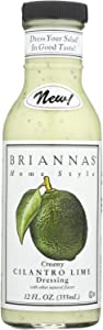 BRIANNA'S, Salad Dressing,Creamy Cilantro Lime, Pack of 6, Size 12 OZ - No Artificial Ingredients