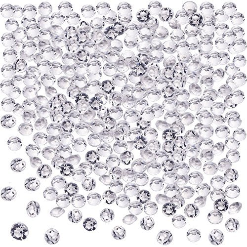 Blulu 2000 Pack 6 mm Clear Acrylic Diamond Scatters Wedding Party Crystal Table Confetti