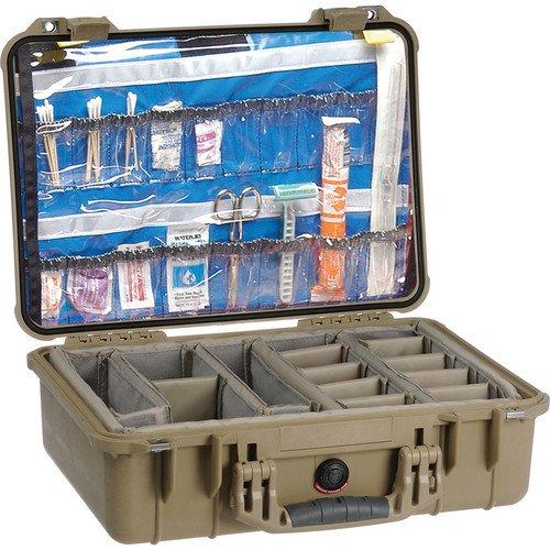 1500EMS Watertight ATA Hard Case with EMS Organizer and Dividers (Desert Tan) [並行輸入品]   B07MN18VKM