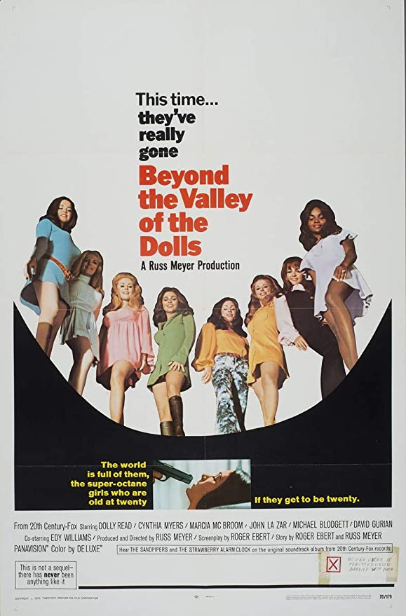 Poster Wall art Reproduction. old  advert Beyond the Valley of  the Dolls