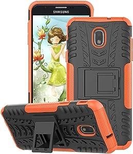 GSDCB Case for Samsung Galaxy J7 Case 2018, Galaxy J7 Refine Case, Galaxy J7V / J7 V Case 2018 (2nd Gen), Galaxy J7 Star Case, J7 Top, J7 Aura, J7 Aero, J7 Crown, J7 Eon, Phone Kickstand Case (Orange)