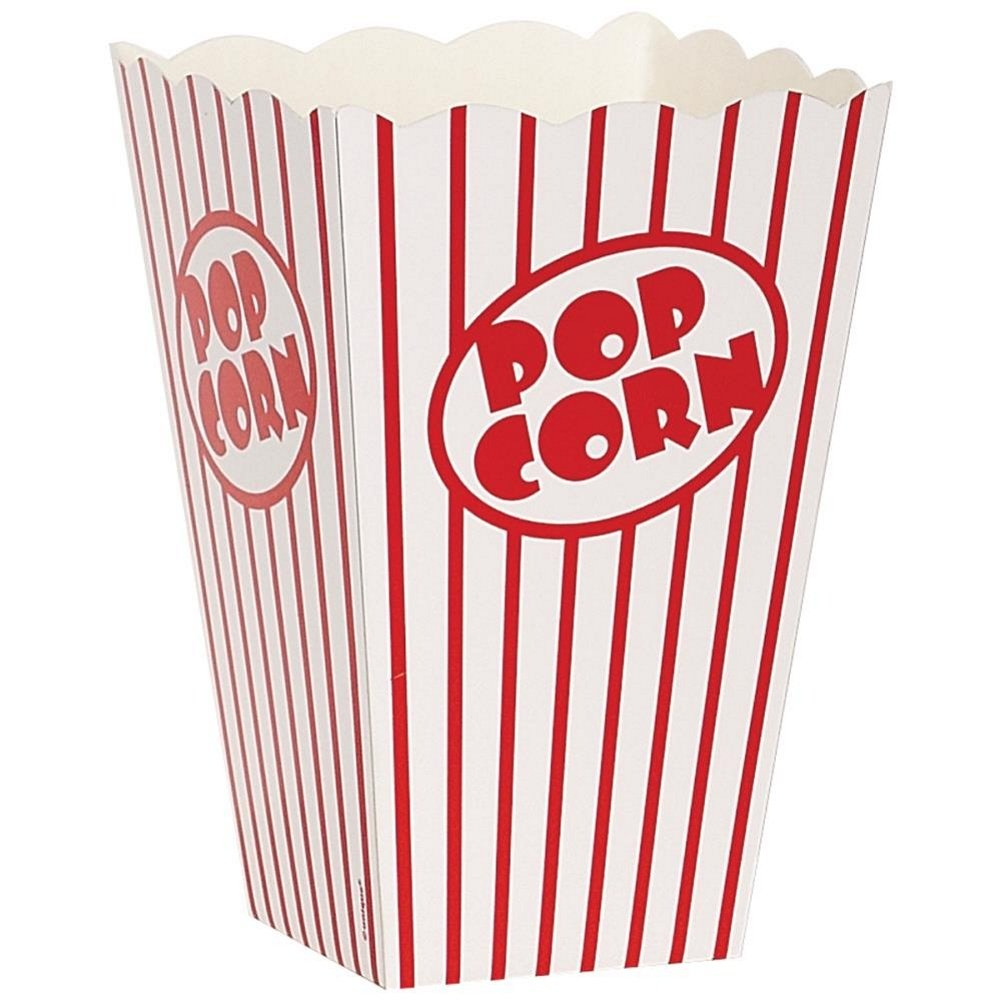 Movie Theater Red and White Striped Popcorn Boxes - 20 Pack