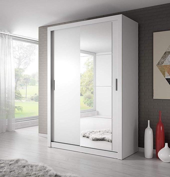 Weisser Kleiderschrank mit Spiegel