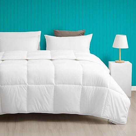 Full//Queen, White Dafinner Lightweight 100/% Cotton Down Alternative Comforter Luxury Plush ECO-Responsible Recycled Microfiber Comforter Duvet for Warmer Weather//Sleeper