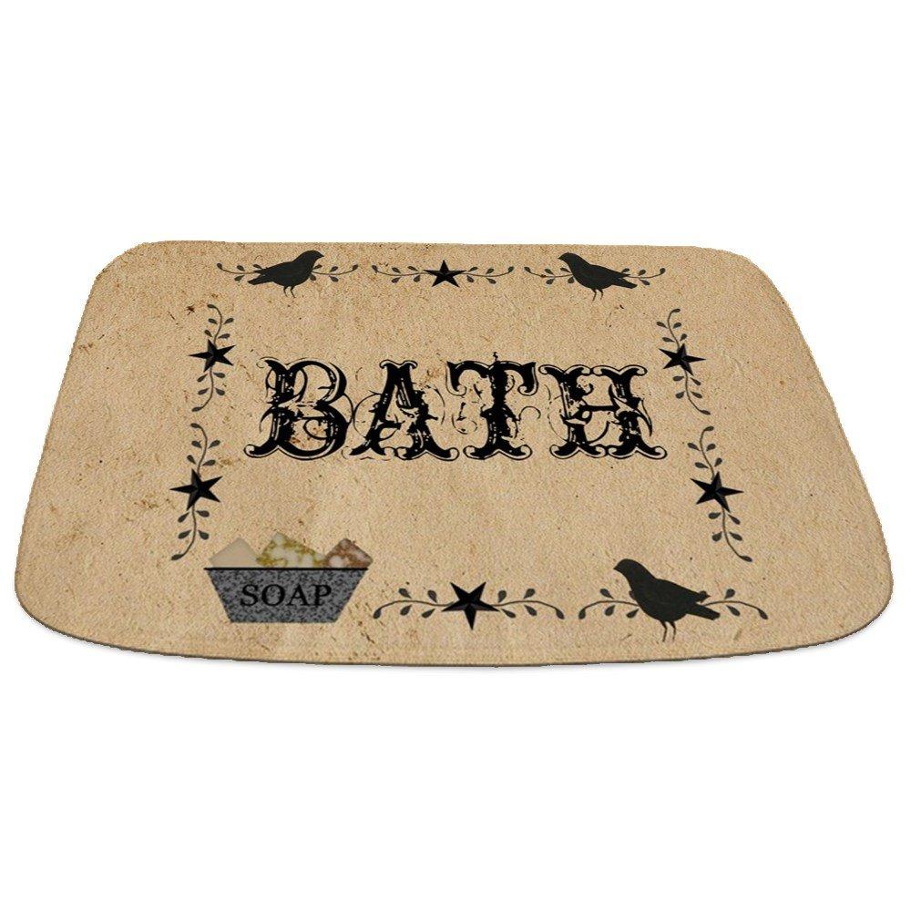 CafePress Primitive Bath Decorative Bathmat, Memory Foam Bath Rug