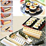 11x Sushi Maker Kit Rice Roll Mold Kitchen DIY Easy Chef Mould Roller Cutter Set