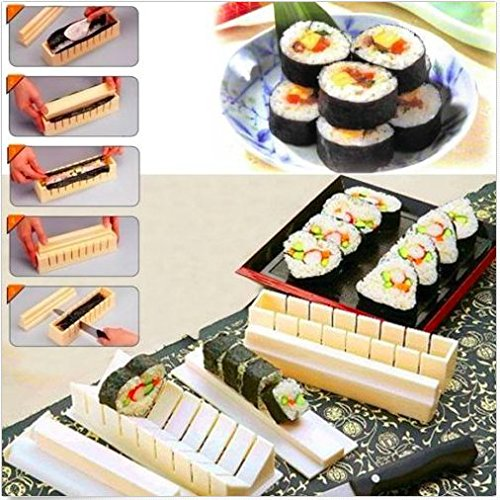 11x Sushi Maker Kit Rice Roll Mold Kitchen DIY Easy Chef Mould Roller Cutter (Soy Sauce Costume Diy)