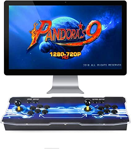 TAPDRA Pandora's Box 9D Multiplayer Joystick and Buttons Arcade Console,  Arcade Games Machines for Home, 2700 Retro Classic Video Games All in One,  ...