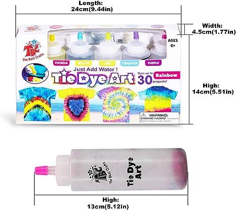 imoli Tie Dye Kit - 5 Colores neón Pinturas Textiles de Tela ...