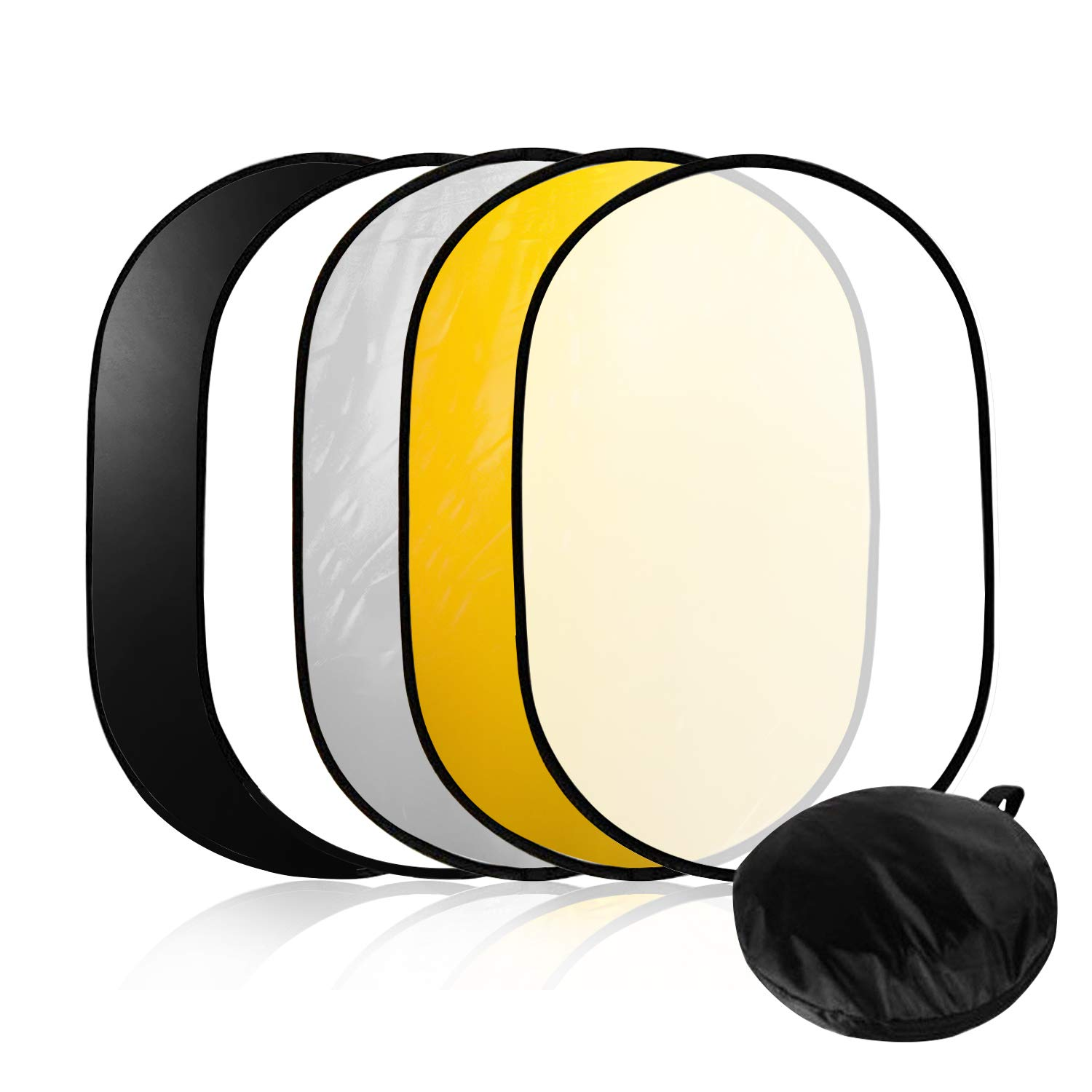 LimoStudio 24''x36'' Photo Video Studio Multi Collapsible Disc Lighting Reflector 5-in-1, AGG1266 by LimoStudio