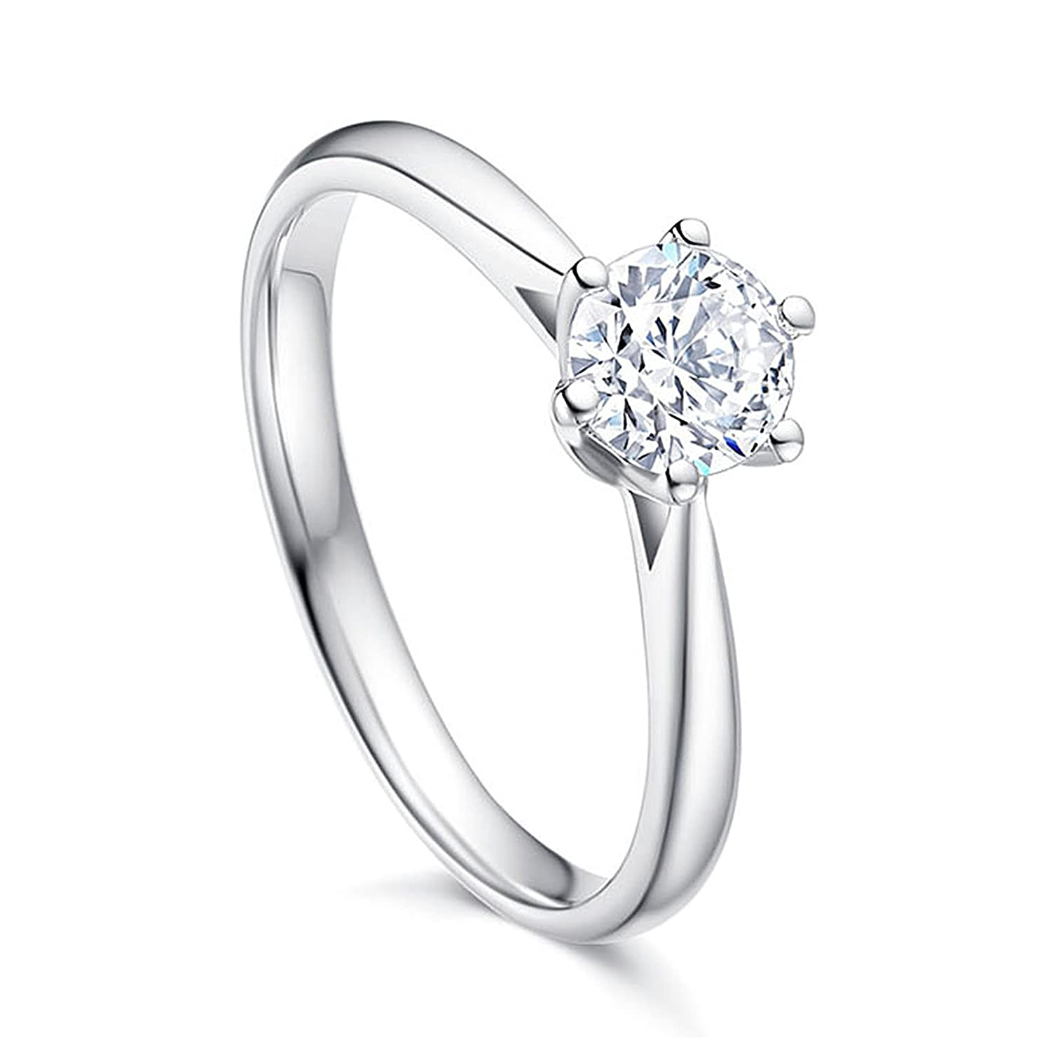 28d573a2c55 MultiWare Fashion 925 Solid Sterling Silver Ring Classic Women Beautiful  Gift