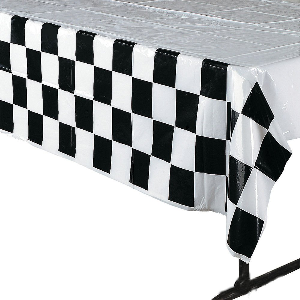 Amazon.com: 4 Pack Black U0026 White Checkered Tablecloth Race Party Supplies  Racing Table Cover: Toys U0026 Games Pictures