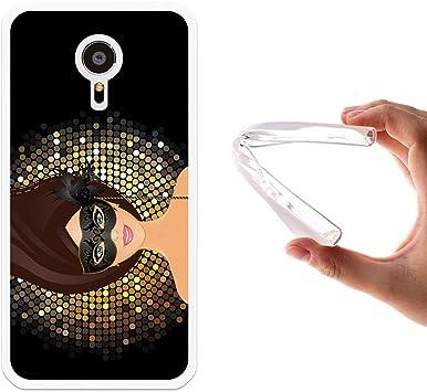 WoowCase Funda para Meizu MX5, [Meizu MX5 ] Silicona Gel Flexible Chica con Mascara, Carcasa Case TPU Silicona: Amazon.es: Electrónica