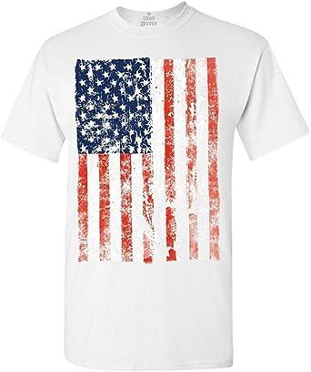 OOworld Camiseta de la Bandera de los Estados Unidos de América Camisetas de la Bandera de los Estados Unidos: Amazon.es: Ropa y accesorios