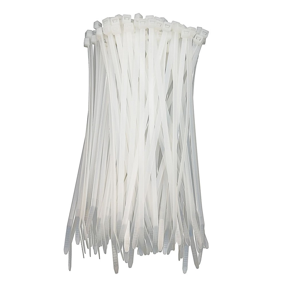 HS Clear Zip Ties 6 Inch Small (100 Pack) 18 LBS Self Locking Zip Ties White Nylon Ties Thin,Strong and Durable HUASU