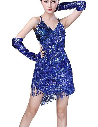 Zhhlaixing Vestido de Baile Latino Tango Danza Traje para ...