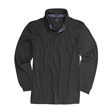 Kitaro Langarm-Poloshirt in schwarz Übergröße 8XL  Amazon.de  Bekleidung 2b5c889b4b