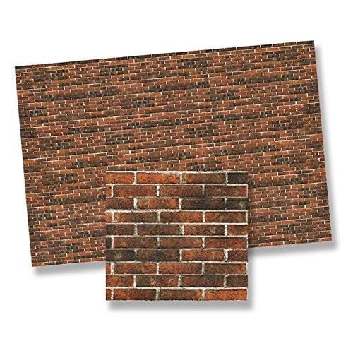 Dollhouse Minaiture 1:24 Scale Antique Brick Wall Sheet by World Model