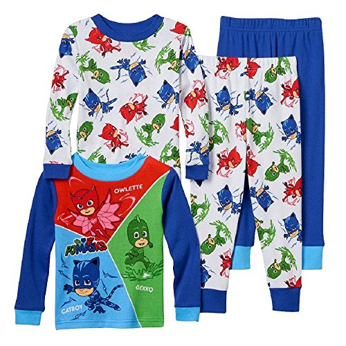Amazon.com: Boys PJ Masks Pajama Set featuring Catboy, Owlette, and Gekko (6): Clothing
