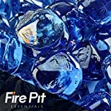 Deep Sea Blue Diamond Shaped Fire Glass Firepit Glass 10 Pounds Great for Fire Pit Fireglass or Fireplace Glass For Sale
