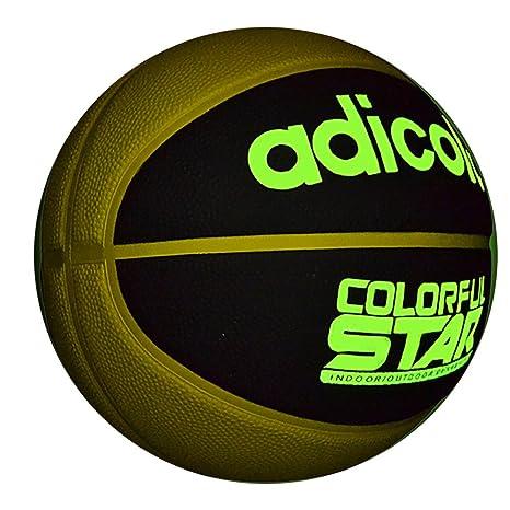 7 # Calle luminoso de goma balón de baloncesto noche juego de goma ...