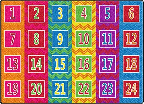 Flagship Carpets FE378-32A Number Chevrons Seats 24 Brights