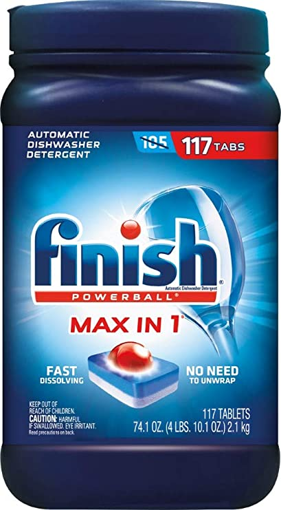 Amazon.com: Finish Max en 1 Powerball, 117ct, Wrapper libre ...