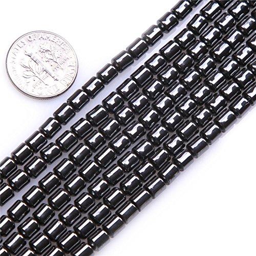 4x5mm Drum Shape Black Hematite Beads Strand 15 Inch Jewelry Making Beads