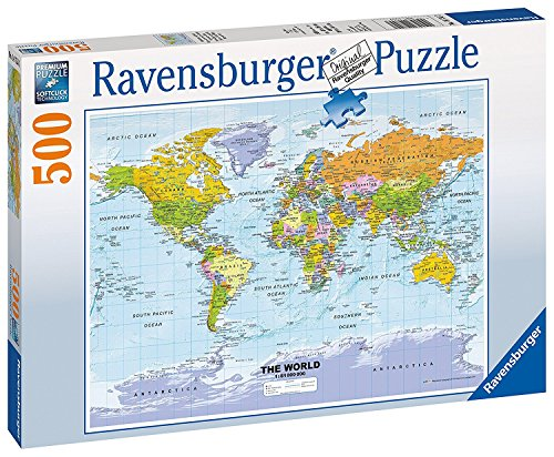 Ravensburger Political World map Jigsaw Puzzle (500 ()