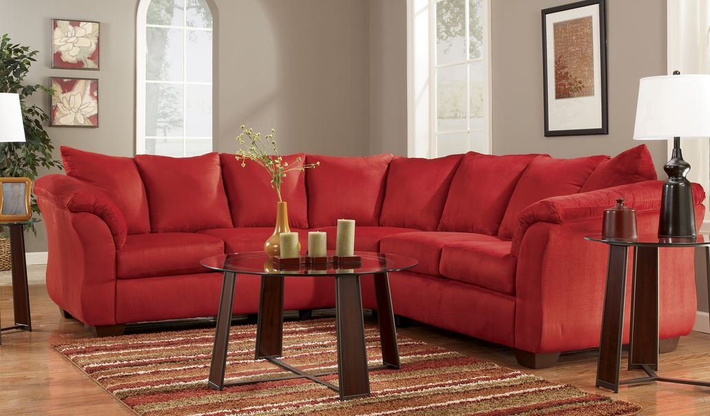 Red Upholstery Fabric Sectional by Ashley Furniture -  - sofas-couches, living-room-furniture, living-room - 61ywUm2yMBL -