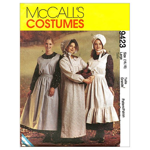 McCall's Patterns M9423 Misses' Pioneer Costumes, Size SML (Pioneer Bonnet Pattern)