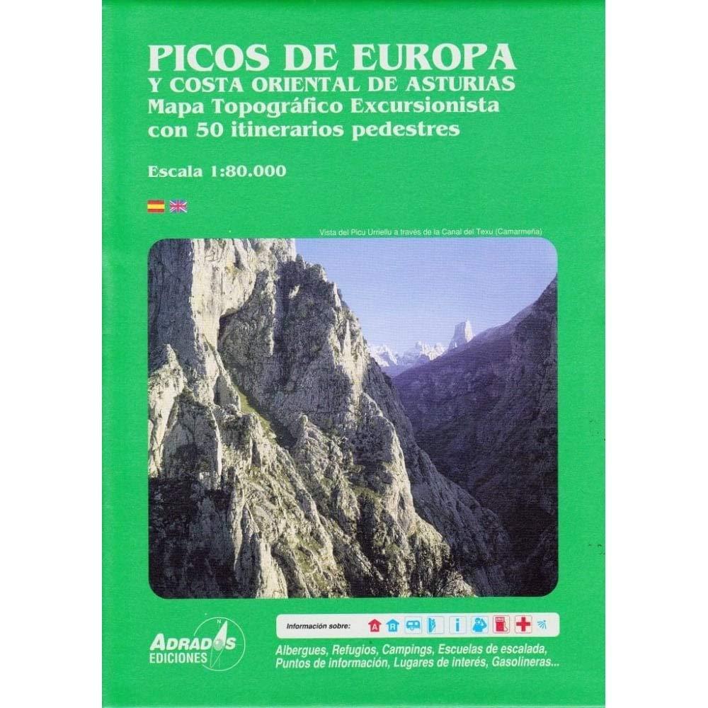 Costa De Asturias Mapa.Picos De Europa Y Costa Oriental De Asturias Mapa