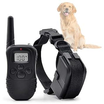 Ociodual Collar De Adiestramiento Para Perros Vibracion Y Pitido Antiladridos Entrenamiento Con Mando 300 Metros