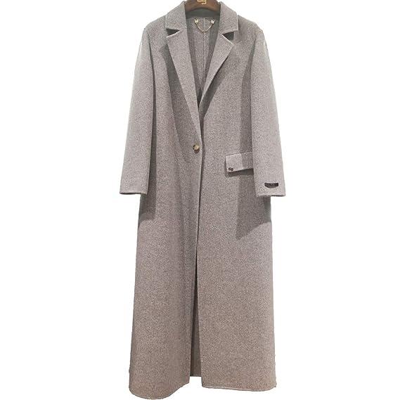 official photos special for shoe san francisco CG Women's Long Coat Lapel Parka Jacket Double Wool Plaid ...