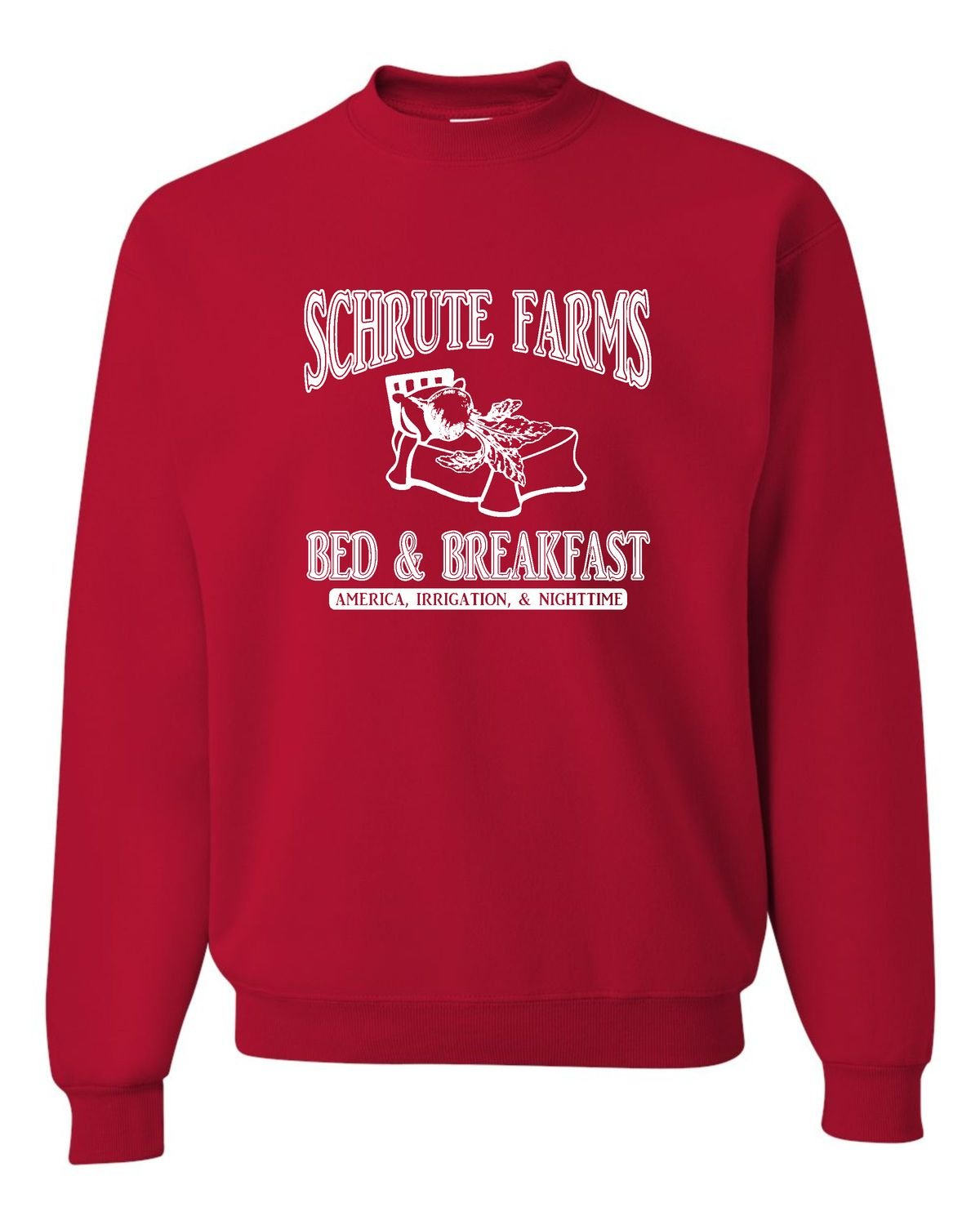 Go All Out Screenprinting Adult Room Themes Schrute Farms Bed & Breakfast Sweatshirt