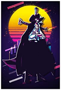 Anime Characters Mihawk Retrowave One Piece Art Poster Canvas Poster Wall Art Decor Print Picture Paintings for Living Room Bedroom Decoration 16×24inch(40×60cm) Unframe-style1